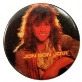 Bon Jovi - 'Jon Bon Jovi Black' Button Badge